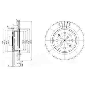 Тормозной диск DELPHI BG3934 - изображение