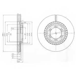 Тормозной диск DELPHI BG3936 - изображение