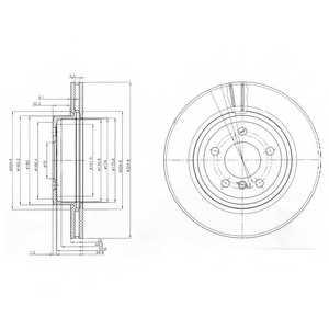 Тормозной диск DELPHI BG3938 - изображение