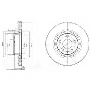 Тормозной диск DELPHI BG3942 - изображение