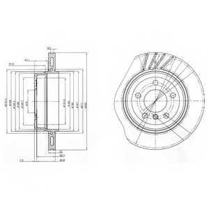 Тормозной диск DELPHI BG3943 - изображение
