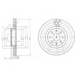 Тормозной диск DELPHI BG3944 - изображение