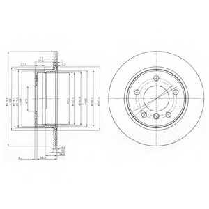 Тормозной диск DELPHI BG3948 - изображение