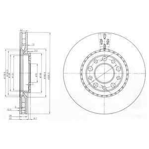 Тормозной диск DELPHI BG3951 - изображение