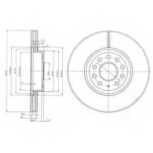 Тормозной диск DELPHI BG3953 - изображение