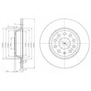 Тормозной диск DELPHI BG3954 - изображение