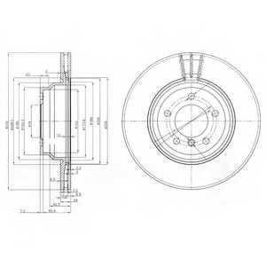 Тормозной диск DELPHI BG3959 - изображение