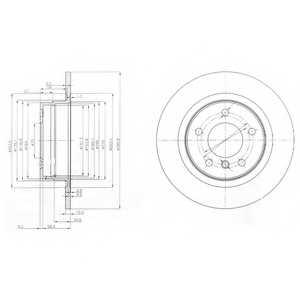 Тормозной диск DELPHI BG3960 - изображение