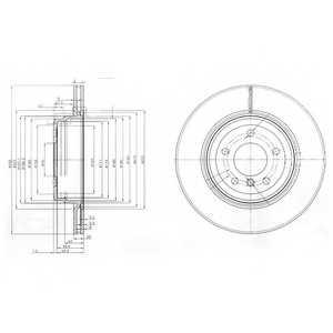 Тормозной диск DELPHI BG3961 - изображение
