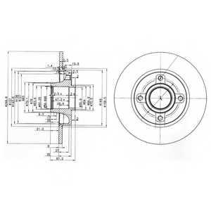 Тормозной диск DELPHI BG3962 - изображение