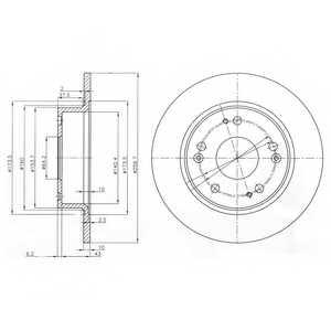 Тормозной диск DELPHI BG3964 - изображение