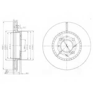 Тормозной диск DELPHI BG3965 - изображение