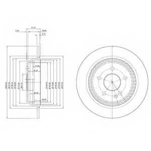 Тормозной диск DELPHI BG3969 - изображение