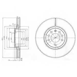 Тормозной диск DELPHI BG3973 - изображение