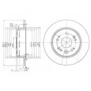 Тормозной диск DELPHI BG3979 - изображение