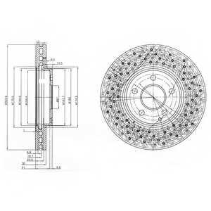 Тормозной диск DELPHI BG3986 - изображение