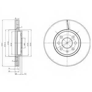 Тормозной диск DELPHI BG3989 - изображение