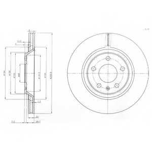 Тормозной диск DELPHI BG3997 - изображение