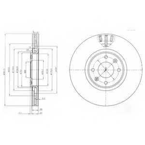 Тормозной диск DELPHI BG4002 - изображение