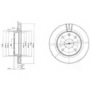 Тормозной диск DELPHI BG4003 - изображение
