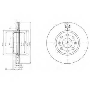 Тормозной диск DELPHI BG4004 - изображение