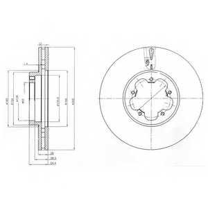 Тормозной диск DELPHI BG4006 - изображение