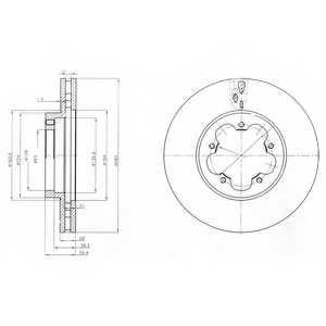 Тормозной диск DELPHI BG4007 - изображение