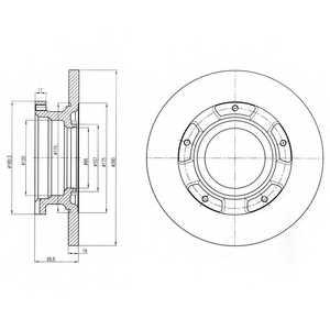Тормозной диск DELPHI BG4008 - изображение