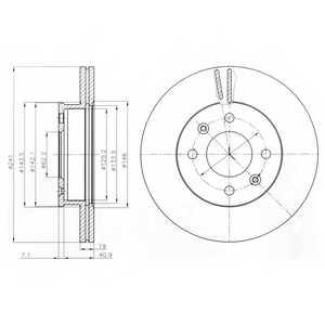 Тормозной диск DELPHI BG4009 - изображение