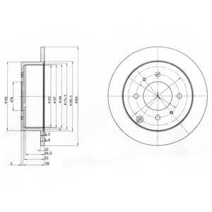 Тормозной диск DELPHI BG4010 - изображение