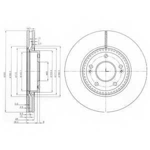 Тормозной диск DELPHI BG4011 - изображение