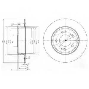Тормозной диск DELPHI BG4012 - изображение