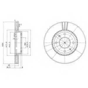 Тормозной диск DELPHI BG4013 - изображение