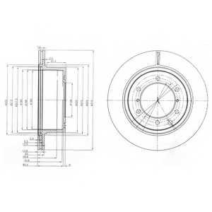 Тормозной диск DELPHI BG4014 - изображение