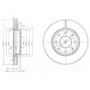 Тормозной диск DELPHI BG4016 - изображение
