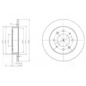 Тормозной диск DELPHI BG4017 - изображение