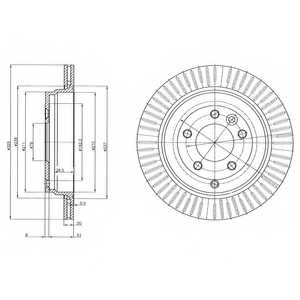 Тормозной диск DELPHI BG4020 - изображение