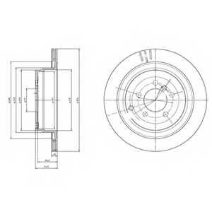 Тормозной диск DELPHI BG4021 - изображение