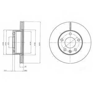 Тормозной диск DELPHI BG4022 - изображение