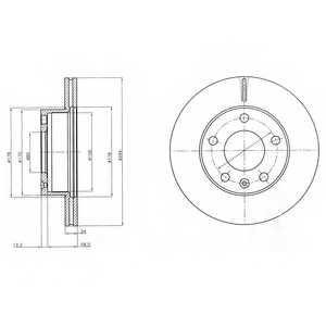 Тормозной диск DELPHI BG4023 - изображение