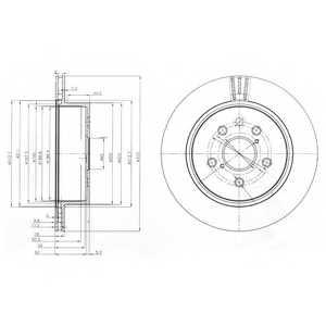 Тормозной диск DELPHI BG4024 - изображение