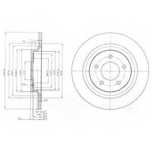 Тормозной диск DELPHI BG4026 - изображение