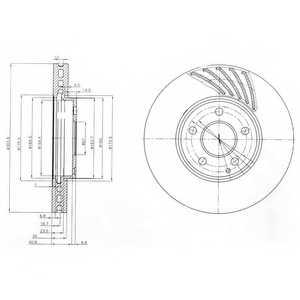 Тормозной диск DELPHI BG4029 - изображение