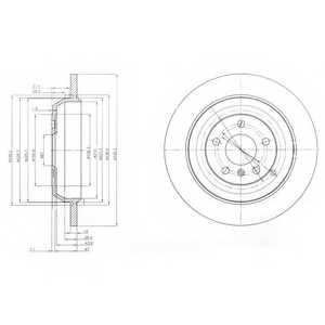 Тормозной диск DELPHI BG4031 - изображение