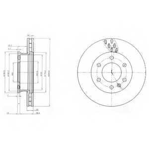 Тормозной диск DELPHI BG4032 - изображение