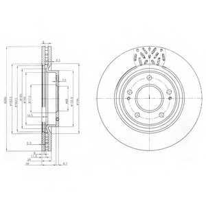 Тормозной диск DELPHI BG4034 - изображение