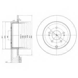 Тормозной диск DELPHI BG4035 - изображение
