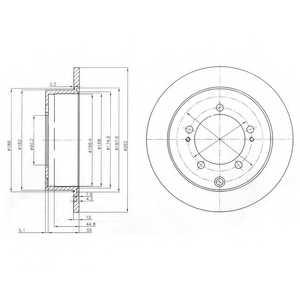 Тормозной диск DELPHI BG4037 - изображение
