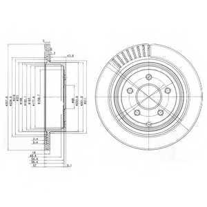 Тормозной диск DELPHI BG4041 - изображение