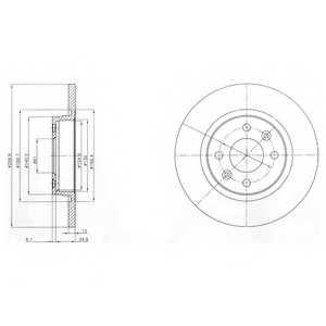 Тормозной диск DELPHI BG4045 - изображение